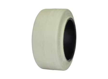 Tire, Rubber, 10x5x6.5, Smooth, Non-Marking Cream