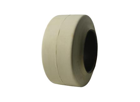Tire, Rubber, 9x5x5, Smooth, Non-Marking Cream