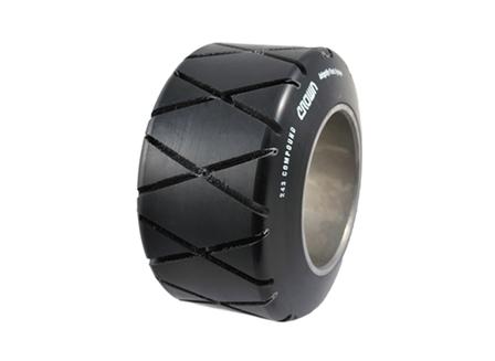 Polyurethane Tire, 9x5x5, Diamond Groove, Compound: 243