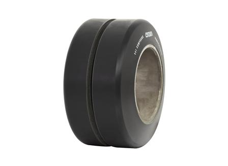 Polyurethane Tire, 9x5x5, Center Groove, Compound: 341