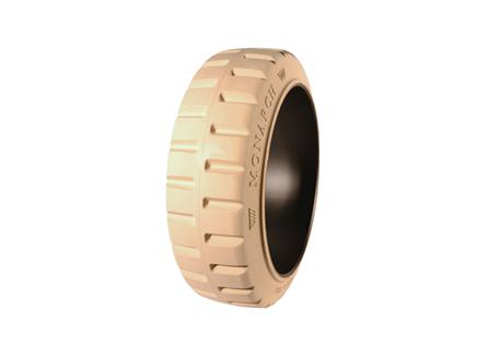 Tire, Rubber, 21x7x15, Traction, Non-Marking Cream