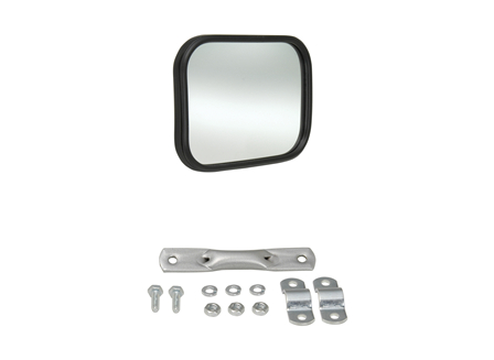 Rear View Mirror, Glass, 4.44 in. x 5.75 in.