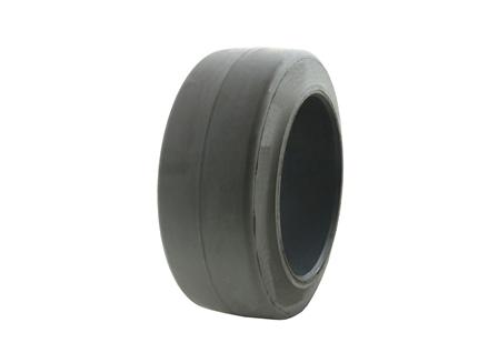 Tire, Rubber, 10x4x6.5, Smooth, Non-Marking Grey
