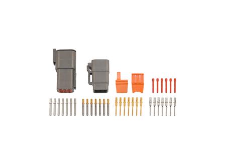 Deutsch DTM Connector Kit, Circuits: 6