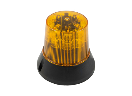 Flashing Light, Low Profile, LED, 12 V - 110 V, Amber