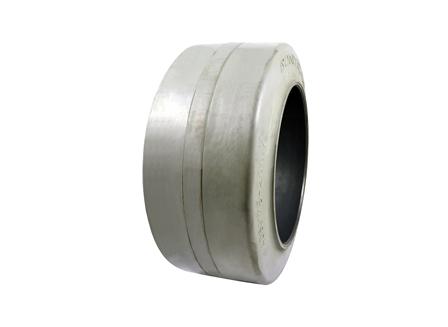 Tire, Rubber, 16x7x10.5, Smooth, Non-Marking Grey