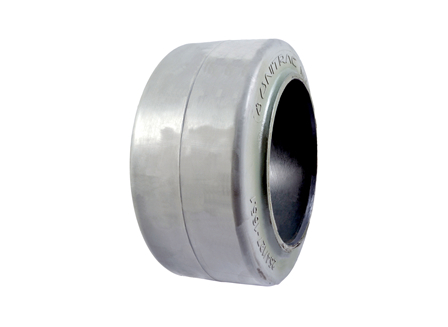 Tire, Rubber, 10x5x6.5, Smooth, Non-Marking Grey