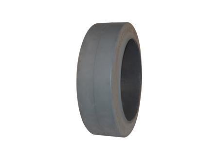Tire, Rubber, 21x7x15, Smooth, Non-Marking Grey