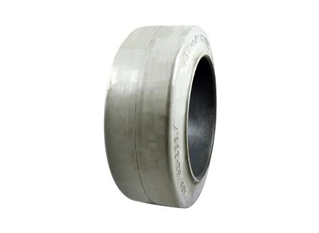 Tire, Rubber, 16x6x10.5, Smooth, Non-Marking Grey