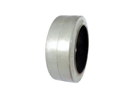 Tire, Rubber, 21x8x15, Smooth, Non-Marking Grey