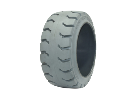 Tire, Rubber, 18x8x12.125, Traction, Non-Marking Grey