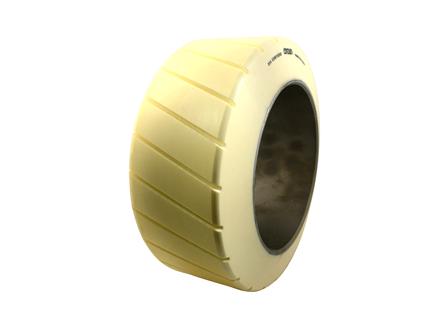 Polyurethane Tire, 16x7x10.5, Sipe - Thick, Compound: 354, Non-Marking