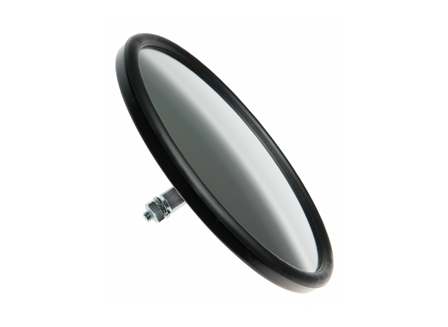 Rear View Mirror, Round Acrylic, 6.37 in.