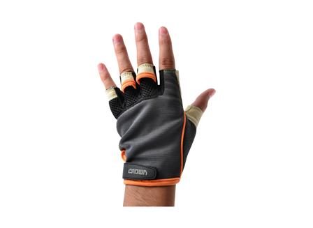 Crown Mechanics Fingerless Gloves, L