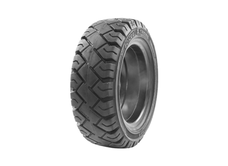 Tire, Solid Resilient, 140/55-9, Compound: 487, Black