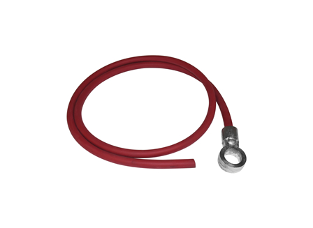 Standard Cable Assembly, Straight, Red, Gauge: #1