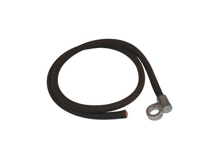 Standard Cable Assembly, Offset, Black, Gauge: 4/0