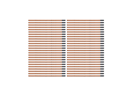 Copper Coated Electrodes, Box/50