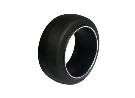 Tire, Rubber, 16.25x7x11.25, Smooth
