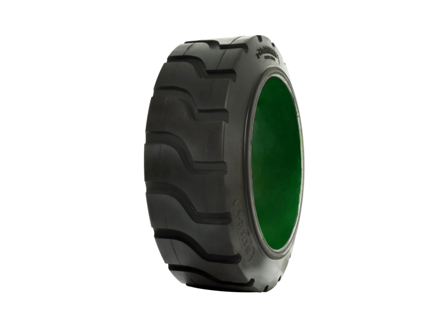 Tire, Fiberglass, 18x7x12.125, Traction, Non-Marking Black