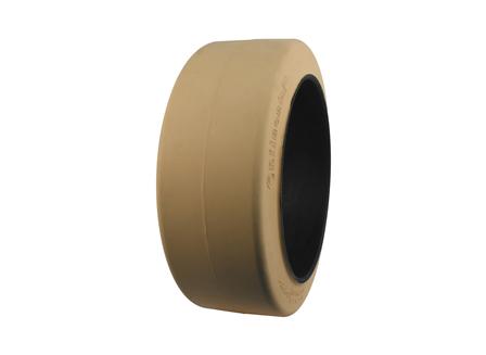 Tire, Rubber, 21x8x15, Smooth, Non-Marking Cream