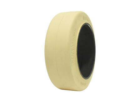 Tire, Rubber, 16x6x10.5, Smooth, Non-Marking Cream
