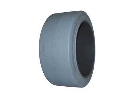 Tire, Rubber, 21x9x15, Smooth, Non-Marking Grey
