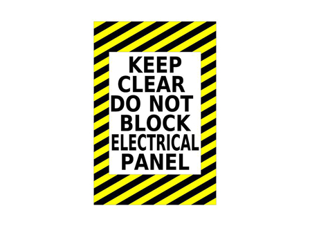 Keep Clear Electrical Panel Sign, 24 in. x 36 in.