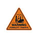 Crown Forklift Traffic Sign, 17 in., Orange