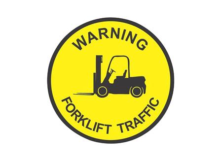 Warning Forklift Traffic, 24 in., Yellow