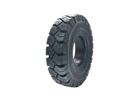 Tire, Solid Resilient, 6.00 x 9, Compound: 480, Black