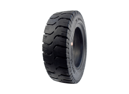 Tire, Solid Resilient, 8.15 x 15, Compound: 482, Black