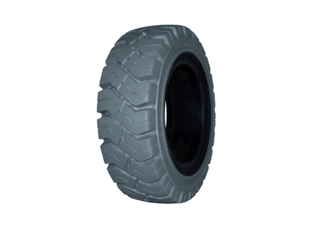 Tire, Solid Resilient, 8.15 x 15, Compound: 490, Non-Marking Grey