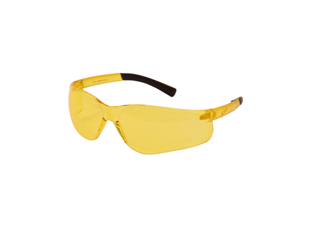 Safety Glasses - Amber Lens with Amber Temples