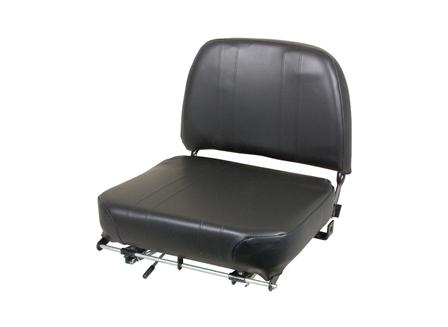 Forklift Seat, Adjustable Back, Lumbar Support, Vinyl