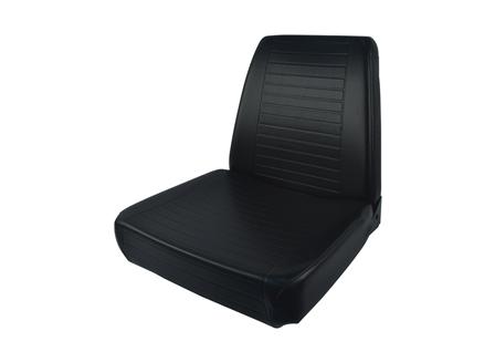 Forklift Seat, Straight Back, Pan Frame, Vinyl