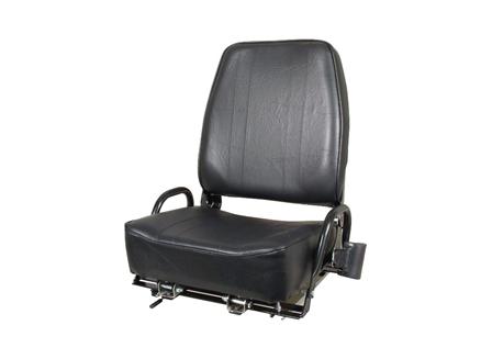 Forklift Seat, Adjustable Back, Retractable Seat Belt, Vinyl
