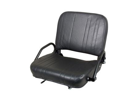 Forklift Seat, Adjustable Back, Steel Frame, Vinyl