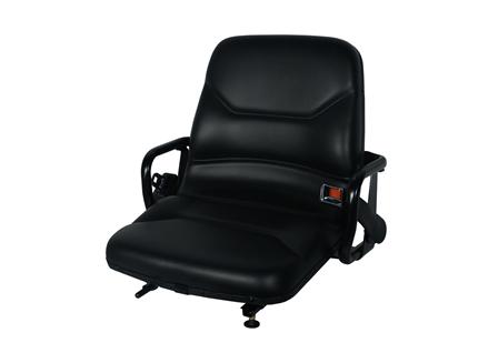 Forklift Seat, Straight Back, Retractable Seat Belt, Vinyl