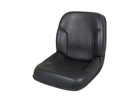 Forklift Seat, Straight Back, Self-draining, Vinyl