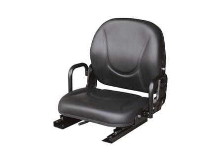 Forklift Seat, Adjustable Back, Hip Restraint, Vinyl
